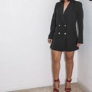 Boohoo Dresses - Boohoo Double Breasted Pocket Detail Blazer Dress